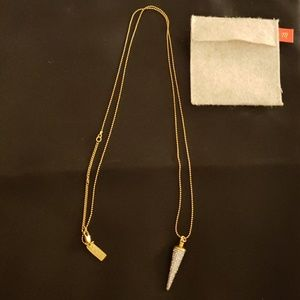 Madewell Necklace with Pave Point Charm
